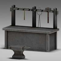 blacksmith table 3d max