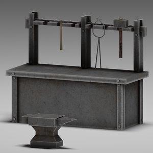 blacksmith table 3d max