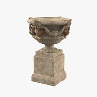 3d model mask urn lion