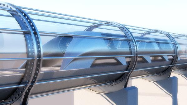 elon hyperloop transporter modelled max