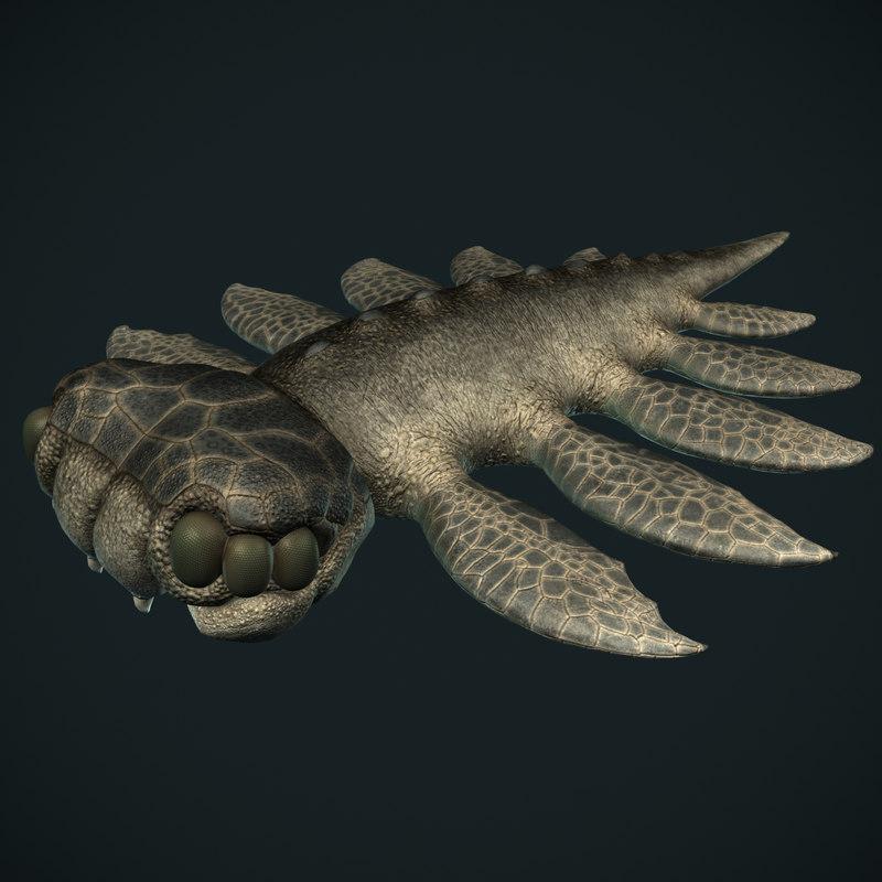 3d model fantasy monster sea