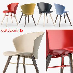 calligaris bahia w chair 3d obj