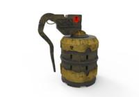 polys grenade 3d model