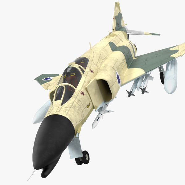 f-4e kurnass israeli air force 3d model