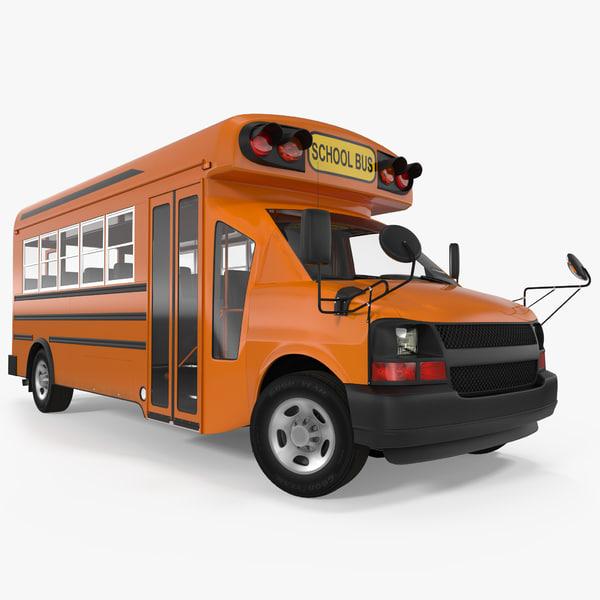 3d small school bus model