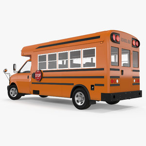 small school bus simple 3ds