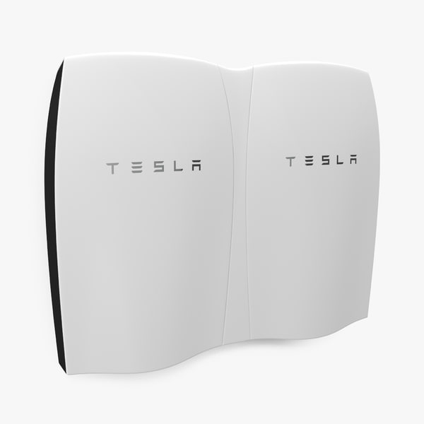 tesla powerwall double unit 3d model