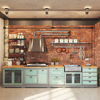 kitchen modern industrial obj
