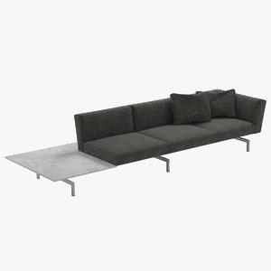 sofa 3 avio knoll 3d max