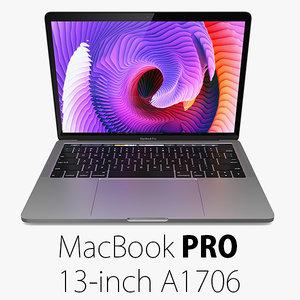 3d macbook pro 13 a1706