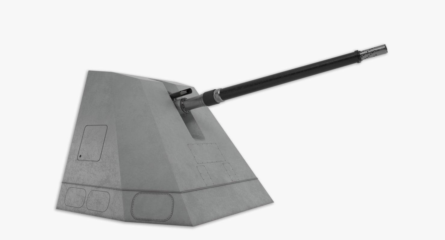 127mm 64 vulcano - 3d 3ds