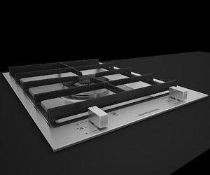 3d barazza hob grid bfeel36