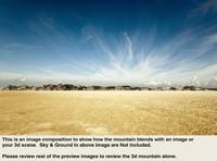 desert mountain range 3d max