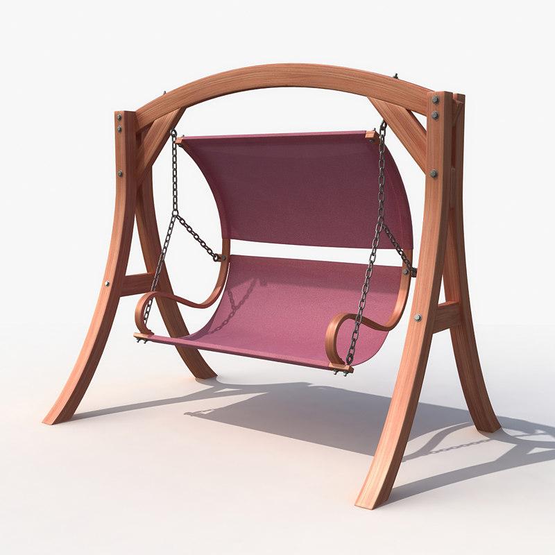 3d model of swing backyard