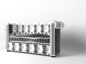 3d sofa lather model