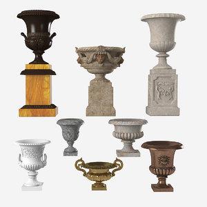 garden urn 3d max