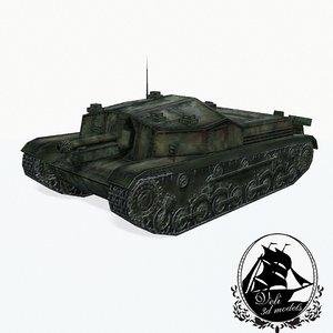 3d model zrinyi tank 43m