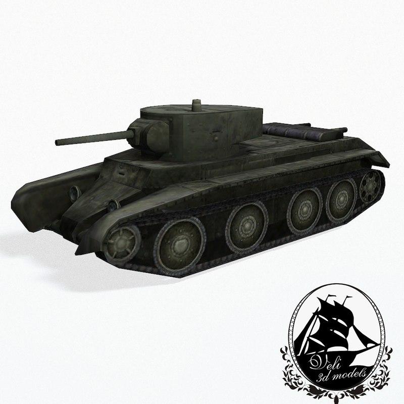 3d bt-7 bt tanks model