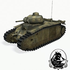 3d char b1 heavy tank model