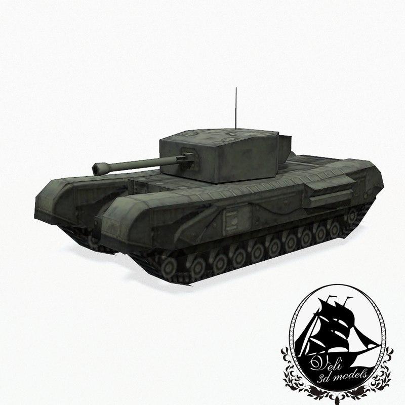 3d tank a22 churchill