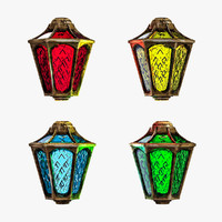 3d 3ds lantern christmas garlands
