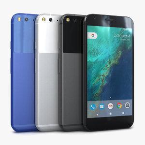 google pixel xl color 3d model