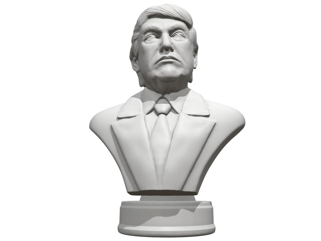 president donald trump 3d obj