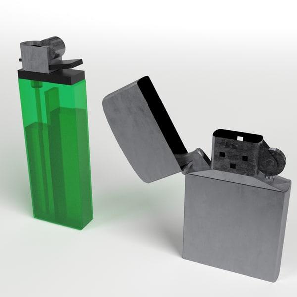 3d model disposable zippo lighters