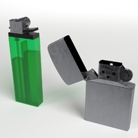 3d model disposable zippo lighters