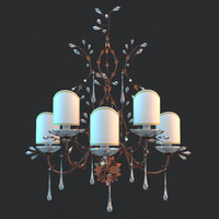 sconce branches bulbs 3d model