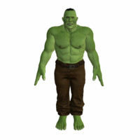 3d model orc rigged