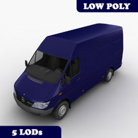 mercedes sprinter cargo van 3d 3ds