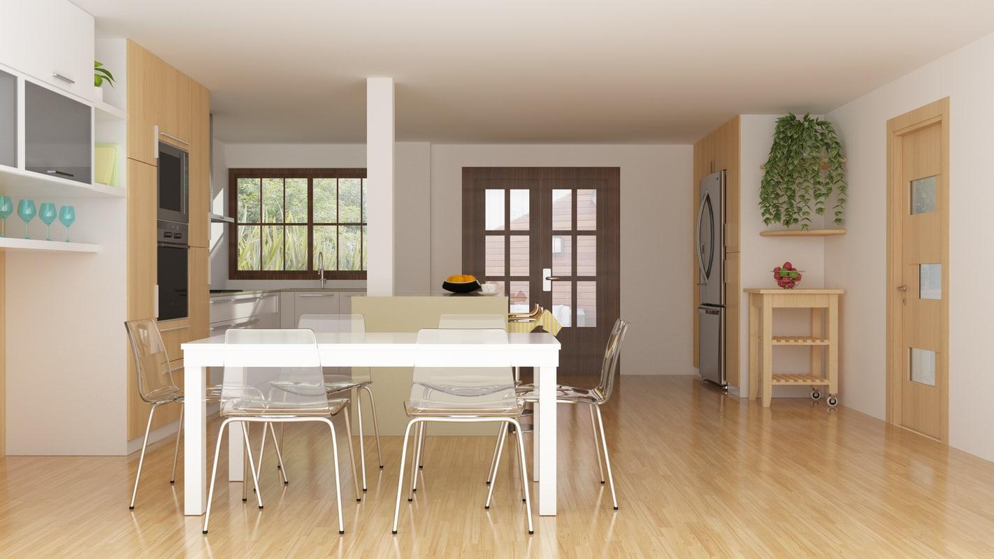 3ds modern kitchen