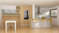 3ds modern kitchen
