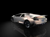 concept sports car 3d c4d