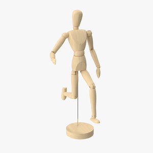 3d model wooden mannequin 01