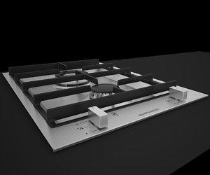 barazza hob grids bfeel36 3d model