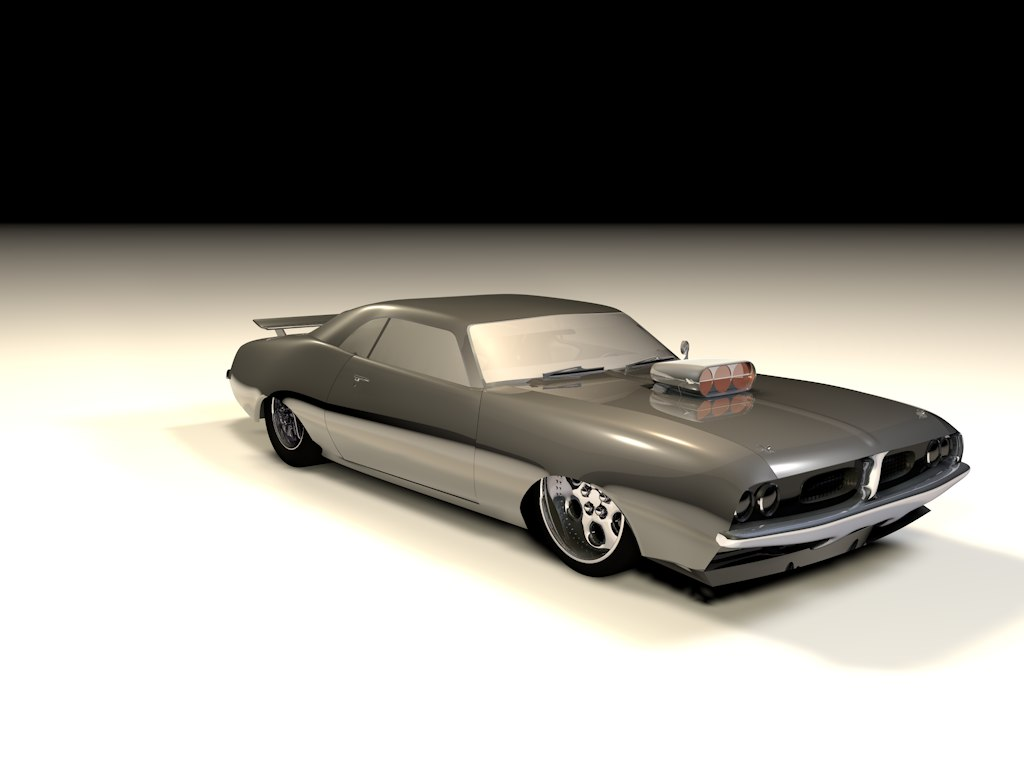 classic drag car 3d model