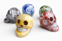 Mexican Painted Skulls