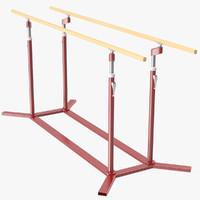 3d parallel bars