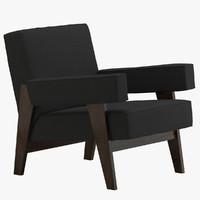 3d pierre jeanneret armchair model