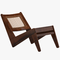 pierre jeanneret chair 3d model