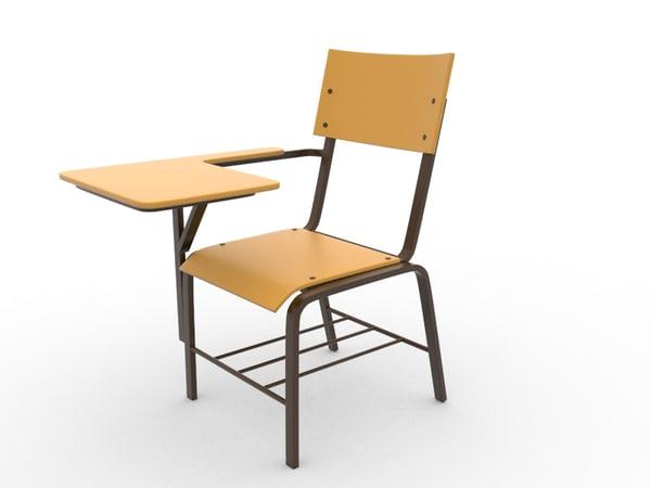 3d ma school chair