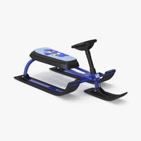 3d model snow sled v1