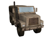 3d 3ds military truck