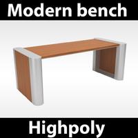 modern park bench 3d model