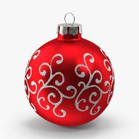 3d red swirls ornament