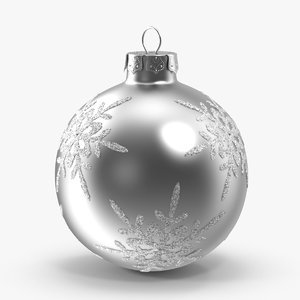 3d silver snowflake ornament
