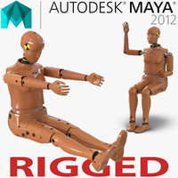 female crash test dummy 3d ma