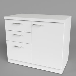 3d office chest drawers 1 model